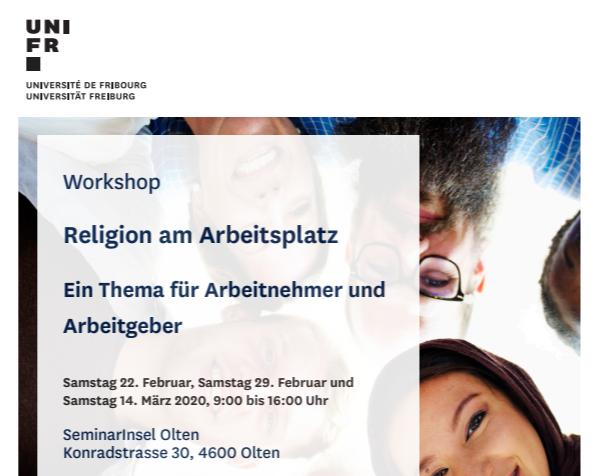 Seminar Religion Am Arbeitsplatz – Olten – 22.2, 29.2 & 14.3.20